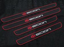 4PCS SCION Black Rubber Car Door Scuff Sill Cover Panel Step Protector For Scion