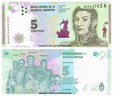ARGENTINE 5 pesos 2015 nouveau Design P-359 billets UNC