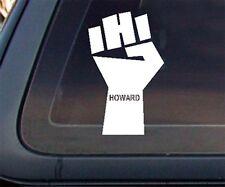 Howard Stern FIST Car Decal / Sticker - White