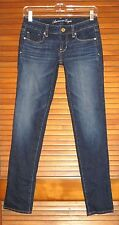 AMERICAN EAGLE WOMEN'S SKINNY STRETCH JEANS ~ SIZE 00 REGULAR