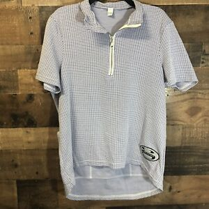 GORE Bike Wear Jersey Cycling Shirt Short Sleeve Men's XL Blue White