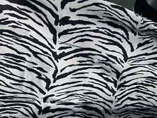 "60"" Denim Fabric Tiger print Black/white print Cotton Fabric 100% Cotton"