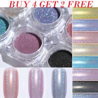 Holographic Nail Glitter Powder Holo Chrome Dust Nail Art  Pigment 1g