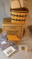 Longaberger Collectors Club JW Collection 1999 Two-Pie Basket w/ Box&Accessories