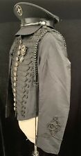 SDL Mens Fitted Taffeta military style  jacket Size  M With Military Hat 59cm