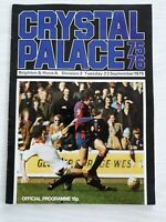 Crystal Palace v Brighton And Hove Albion 1975-76 Division 3 Programme