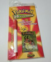 POKEMON 3D TRIVIA CHALLENGE LEDYBA BOOK 1998 NINTENDO GAME FREAK