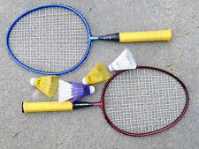 Kinder Badmintonset Federball PRO Can® 2 Schläger 5 Bälle, ab 5 Jahre Alu