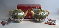 Vintage Mary Engelbreit Miniature Teapot Candle Holders Cherries Jubilee Nos