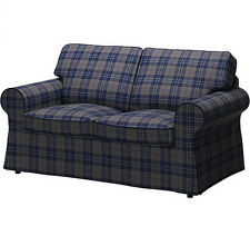 Ikea Rp Cover Loveseat 2 Seat Sofa Slipcover Rutna Multicolor Plaid Blue New