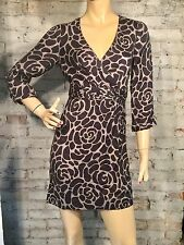 Boden Canterbury Tunic Dress 6 R (S) Day Casual Navy Blue Gray Print