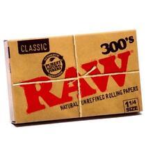 Papel natural RAW Classic. 5 libritos. 300 hojas por librito + 1 mechero clipper