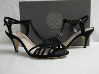 Vince Camuto Size 7.5 M Molli Black Open Toe Heels New Womens Shoes