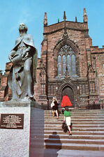 Postcard Wolverhampton  St Peter's Church and Statue of Lady  Wulfrun unposted