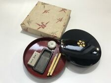 Japanese Calligraphy Tool Storage Case Vtg Ink Stone Water Dropper Brush k129
