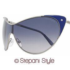 Tom Ford Shield Sunglasses TF364 Vanda 89W Ruthenium/Indigo Blue FT0364