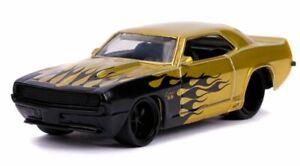 Jada Toys Bigtime Muscle '69 Chevrolet Camaro Yellow Black Flames Item 12006 1:6