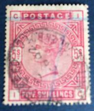 Grande Bretagne N° 87 5 s  Rouge Oblitéré TB Qualité Cote 175€