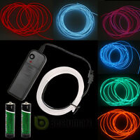 Neon LED Light Glow EL Wire String Strip Rope Tube Car Dance Party + Controller