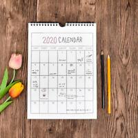 2020 Wall Hanging Calendar Month Day Planner Organizer Diary Calendar Home