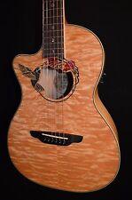 Luna Fauna Hummingbird Lefty Left Parlor Acoustic Electric Guitar -Free Shipping