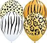 "Safari Animal Print 11"" Qualatex Latex Party Balloons for Helium or Air Fill"