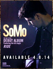 SOMO Ride Ltd Ed RARE Mini-Poster Display Cling +FREE Pop/Hip-Hop/Dance Stickers