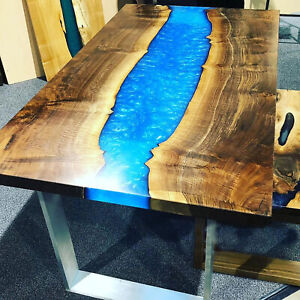 Olive Wood Dining Table Epoxy Resin Table Resin Resin Walnut Decor Made To Order