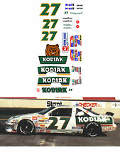 #27 Rusty Wallace Kodiak 1989 1/64 scale decal AFX Lifelike Autoworld Tyco