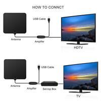Digital TV Antenna 80 Miles Long Range Amplifier HDTV Signal Booster TV Antenna