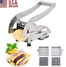 Stainless Steel French Fry Cutter Vegetable Potato Slicer Dicer Chopper 2 Blades
