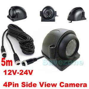 12-24V 4Pin 12LED caméra étanche de recul IR Arrière LED vision nocturne + 5m