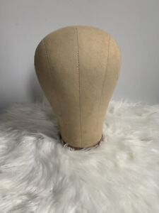 Canvas Block Head Mannequin Display Head For Wig Making With Mount Hole