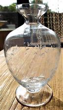 *1A handfert.durchs.Glas-Bauchvase 50er/m.floralen feinen GlasschliffVitrinenst.