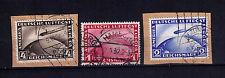 GERMAN REICH AIRMAILS GRAF ZEPPELIN SC# C35-37  USED PN PIECE !!!