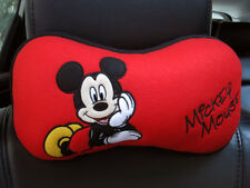 Mickey Mouse Disney Car Accessory #C 1 pc Neck Cushion Head Pillow Red,Black