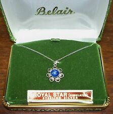 Necklace New in Box Simulated Royal Star Sterling Silver