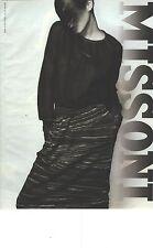 PUBLICITE ADVERTISING 1989    MISSONI haute couture jupe et pull laine