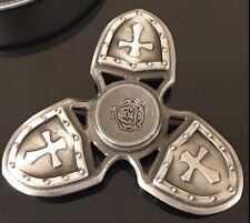solid brass shield metal finger hand spinner fidget spinning toy steel bearing