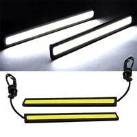 2xSuper Bright COB Car White LED Lights 12V For DRL Fog Driving Lamp Waterproof~
