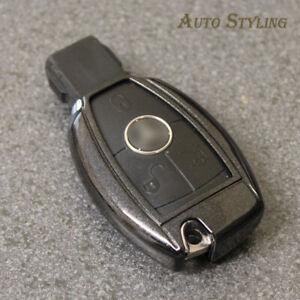 Black Key Cover Case for Mercedes Smart Remote Fob 2 3 4 Button Hull Bag 70dbla