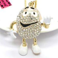 Bling Rhinestones Mr. Lovely Chocolate Crystal Pendant Betsey Johnson Necklace