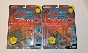 2 Star Trek The Next Generation Innerspace Romulan & Borg Ship Mini Playsets MOC