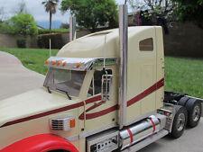 """Pair 1/2"""" Aluminum Exhaust Straight Pipe Tamiya RC 1/14 Knight Hauler Semi Truck"""