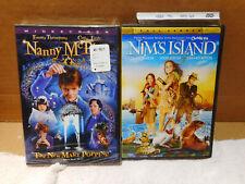 Set of 2 DVD's: Nanny McPhee, NIM'S ISLAND, preowned