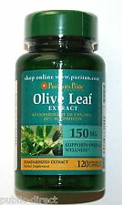 Natural Olive Leaf Extract 150 mg 120 Capsules Gluten Dairy & Sugar Free pills