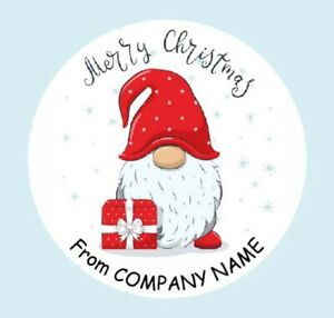 Round Personalised Merry Christmas logo, Round Stickers, Labels (011B)