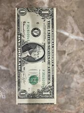 1974 $1 Us Misaligned Error One Dollar Note *Rare* Currency