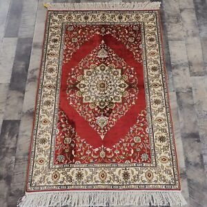 YILONG 2.5'x4' Small HandKnotted Silk Carpets Antistatic Floor Area Rug 844B