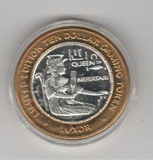 2000 MILLENNIUM Luxor Queen NEFERTARI & brush .999 Fine Silver $10 Casino Token